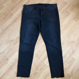 Joe's jeans - distressed hem mid rise skinny jeans
